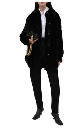 Женская шуба из меха норки KUSSENKOVV черного цвета, арт. 742800002548 | Фото 2 (Длина (верхняя одежда): До середины бедра; Рукава: Длинные; Материал внешний: Натуральный мех; Женское Кросс-КТ: Мех; Стили: Кэжуэл)