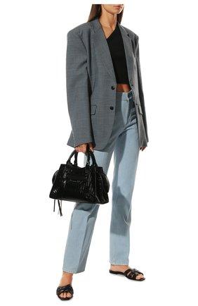 Женские джинсы BURBERRY голубого цвета, арт. 8045037 | Фото 2 (Материал внешний: Хлопок; Длина (брюки, джинсы): Удлиненные; Кросс-КТ: Деним; Силуэт Ж (брюки и джинсы): Прямые; Стили: Кэжуэл)