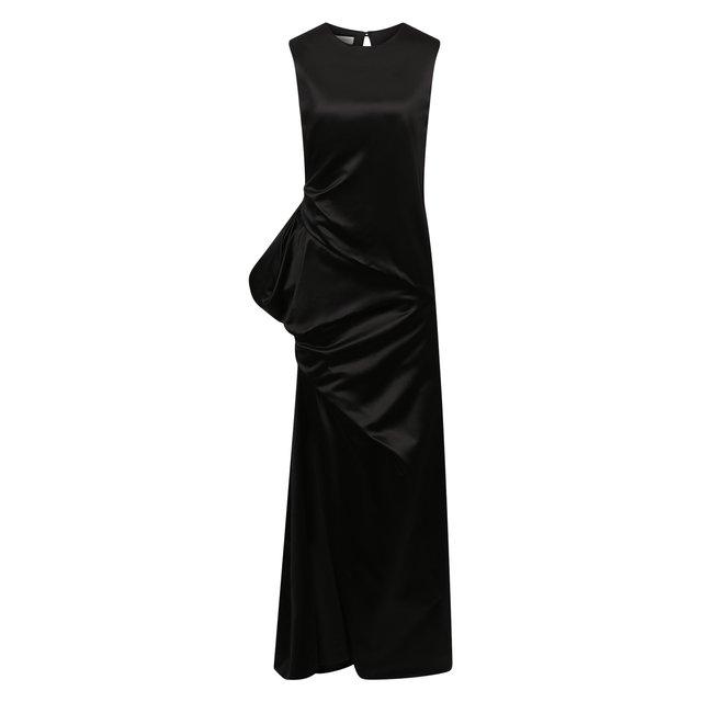 Платье из хлопка и шелка Dries Van Noten