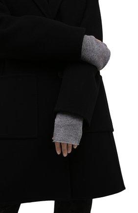 Женские кашемировые митенки LISA YANG серого цвета, арт. 401523   Фото 2 (Материал: Кашемир, Шерсть; Женское Кросс-КТ: митенки)