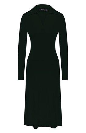Женское кашемировое платье LISA YANG зеленого цвета, арт. 202190   Фото 1 (Материал внешний: Шерсть, Кашемир; Рукава: Длинные; Длина Ж (юбки, платья, шорты): Миди; Женское Кросс-КТ: Платье-одежда; Кросс-КТ: Трикотаж; Случай: Повседневный; Стили: Кэжуэл)