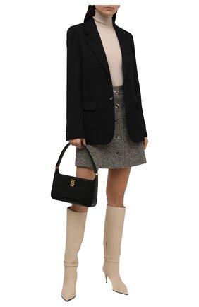 Женская шерстяная водолазка CHLOÉ светло-бежевого цвета, арт. CHC21WMP01530   Фото 2 (Материал внешний: Шерсть; Длина (для топов): Стандартные; Рукава: Длинные; Женское Кросс-КТ: Водолазка-одежда; Стили: Кэжуэл)