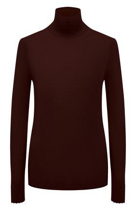 Женская шерстяная водолазка CHLOÉ темно-бордового цвета, арт. CHC21WMP01530   Фото 1 (Материал внешний: Шерсть; Рукава: Длинные; Длина (для топов): Стандартные; Женское Кросс-КТ: Водолазка-одежда; Стили: Кэжуэл)