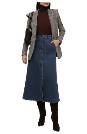 Женская шерстяная водолазка CHLOÉ темно-бордового цвета, арт. CHC21WMP01530   Фото 2 (Материал внешний: Шерсть; Рукава: Длинные; Длина (для топов): Стандартные; Женское Кросс-КТ: Водолазка-одежда; Стили: Кэжуэл)