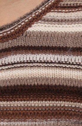Женское платье из кашемира и шерсти CHLOÉ коричневого цвета, арт. CHC21WMR08670   Фото 5 (Материал внешний: Шерсть, Кашемир; Рукава: Длинные; Случай: Повседневный; Кросс-КТ: Трикотаж; Длина Ж (юбки, платья, шорты): Макси; Женское Кросс-КТ: Платье-одежда; Стили: Кэжуэл)