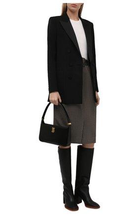 Женские кожаные сапоги edith CHLOÉ черного цвета, арт. CHC21W519V3   Фото 2 (Материал внутренний: Натуральная кожа; Каблук высота: Высокий; Высота голенища: Средние; Подошва: Плоская; Каблук тип: Устойчивый)