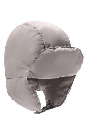 Детского пуховая шапка IL GUFO серого цвета, арт. A21E0219N0031 | Фото 1 (Материал: Текстиль, Синтетический материал)