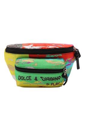 Детская поясная сумка DOLCE & GABBANA разноцветного цвета, арт. EM0103/AQ424   Фото 1 (Материал: Текстиль)
