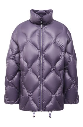 Женская куртка MIU MIU фиолетового цвета, арт. ML778-1ZQW-F0374   Фото 1 (Материал внешний: Синтетический материал; Длина (верхняя одежда): Короткие; Рукава: Длинные; Кросс-КТ: Куртка; Стили: Спорт-шик)