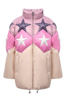 Женская куртка MIU MIU бежевого цвета, арт. ML779-1ZQX-F0770   Фото 1 (Материал внешний: Синтетический материал; Длина (верхняя одежда): До середины бедра; Рукава: Длинные; Кросс-КТ: Куртка; Стили: Романтичный)