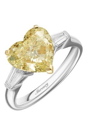 Женские кольцо MERCURY бесцветного цвета, арт. MR200YHDT | Фото 1 (Материал сплава: Белое золото, Желтое золото; Драгоценные камни: Бриллианты)