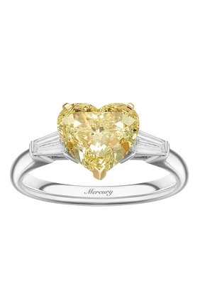 Женские кольцо MERCURY бесцветного цвета, арт. MR200YHDT | Фото 2 (Материал сплава: Белое золото, Желтое золото; Драгоценные камни: Бриллианты)