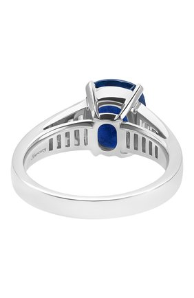 Женские кольцо MERCURY бесцветного цвета, арт. MR26155WDS | Фото 2 (Материал сплава: Белое золото; Драгоценные камни: Сапфиры, Бриллианты)
