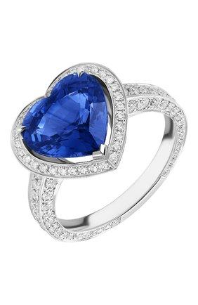 Женские кольцо MERCURY бесцветного цвета, арт. MR27123WS | Фото 1 (Материал сплава: Белое золото; Драгоценные камни: Сапфиры, Бриллианты)