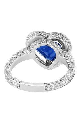 Женские кольцо MERCURY бесцветного цвета, арт. MR27123WS | Фото 2 (Материал сплава: Белое золото; Драгоценные камни: Сапфиры, Бриллианты)