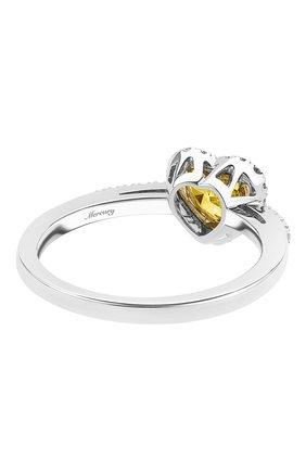 Женские кольцо MERCURY бесцветного цвета, арт. MR18749WYD | Фото 2 (Материал сплава: Белое золото, Желтое золото; Драгоценные камни: Бриллианты)