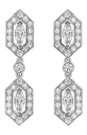Женские серьги MERCURY бесцветного цвета, арт. ME26504/WG | Фото 1 (Материал сплава: Белое золото; Драгоценные камни: Бриллианты)