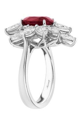 Женские кольцо MERCURY бесцветного цвета, арт. MR22886WR | Фото 2 (Материал сплава: Белое золото; Драгоценные камни: Рубины, Бриллианты)