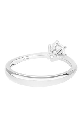 Женские кольцо MERCURY бесцветного цвета, арт. MR13219/WG/1RD0.40 | Фото 2 (Материал сплава: Белое золото; Драгоценные камни: Бриллианты)