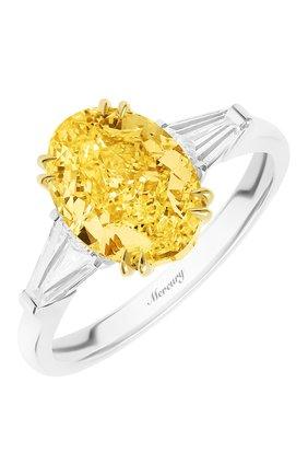 Женские кольцо MERCURY бесцветного цвета, арт. MR21611WYD | Фото 1 (Материал сплава: Белое золото, Желтое золото; Драгоценные камни: Бриллианты)