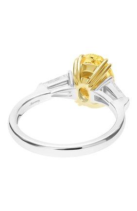 Женские кольцо MERCURY бесцветного цвета, арт. MR21611WYD | Фото 2 (Материал сплава: Белое золото, Желтое золото; Драгоценные камни: Бриллианты)