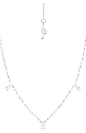 Женские колье MERCURY бесцветного цвета, арт. MN28108/WG/WPD0.20 | Фото 1 (Материал сплава: Белое золото; Драгоценные камни: Бриллианты)
