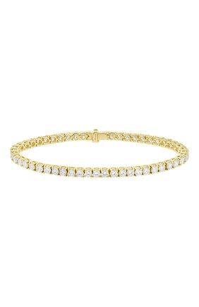 Женский браслет MERCURY бесцветного цвета, арт. MB9781/YG/1RD0.10 | Фото 1 (Материал сплава: Желтое золото; Драгоценные камни: Бриллианты)