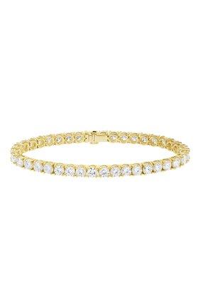 Женский браслет MERCURY бесцветного цвета, арт. MB9781/YG/1RD0.30 | Фото 1 (Материал сплава: Желтое золото; Драгоценные камни: Бриллианты)