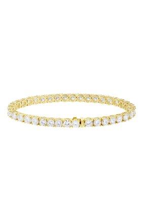 Женский браслет MERCURY бесцветного цвета, арт. MB9781/YG/1RD0.30 | Фото 2 (Материал сплава: Желтое золото; Драгоценные камни: Бриллианты)