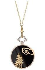 Женские кулон ELE KARELA бесцветного цвета, арт. ELE-304 | Фото 1 (Материал сплава: Белое золото, Желтое золото; Драгоценные камни: Бриллианты, Другие)