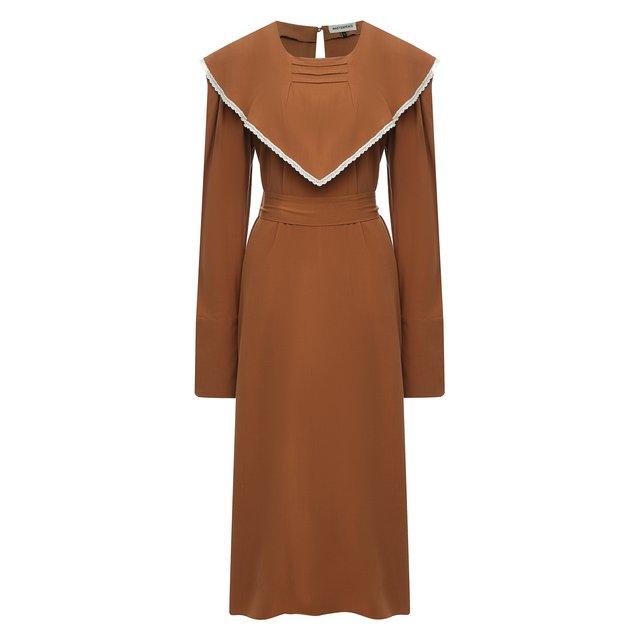 Платье из шелка и хлопка Masterpeace