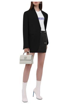 Женская хлопковая футболка OFF-WHITE белого цвета, арт. 0WAA040F21JER002 | Фото 2 (Рукава: Короткие; Длина (для топов): Стандартные; Материал внешний: Хлопок; Женское Кросс-КТ: Футболка-одежда; Принт: С принтом; Стили: Спорт-шик)
