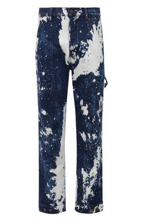 Мужские джинсы PALM ANGELS синего цвета, арт. PMYB016F21DEN0014560   Фото 1 (Материал внешний: Хлопок; Длина (брюки, джинсы): Стандартные; Кросс-КТ: Деним; Силуэт М (брюки): Прямые; Стили: Гранж)