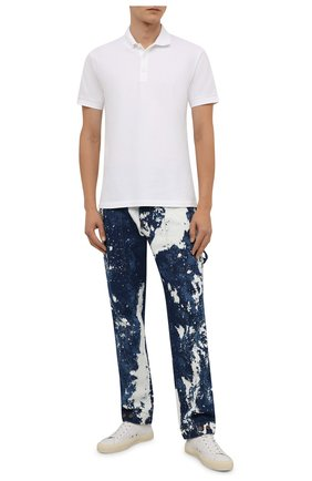Мужские джинсы PALM ANGELS синего цвета, арт. PMYB016F21DEN0014560   Фото 2 (Материал внешний: Хлопок; Длина (брюки, джинсы): Стандартные; Кросс-КТ: Деним; Силуэт М (брюки): Прямые; Стили: Гранж)