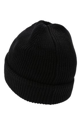 Детского хлопковая шапка BOSS черного цвета, арт. J21242 | Фото 2 (Материал: Текстиль, Хлопок)