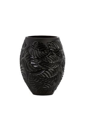 Ваза feuilles LALIQUE черного цвета, арт. 10745700   Фото 1