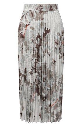 Женская юбка из вискозы OFF-WHITE серого цвета, арт. 0WCC136F21FAB002 | Фото 1 (Материал подклада: Синтетический материал; Длина Ж (юбки, платья, шорты): Миди; Материал внешний: Вискоза; Женское Кросс-КТ: Юбка-одежда, юбка-плиссе; Стили: Романтичный)