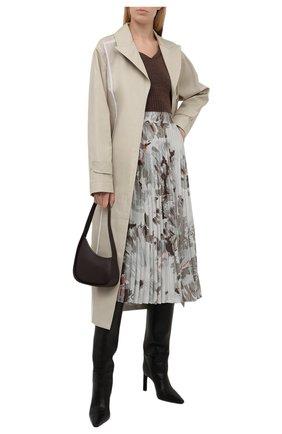 Женская юбка из вискозы OFF-WHITE серого цвета, арт. 0WCC136F21FAB002 | Фото 2 (Материал подклада: Синтетический материал; Длина Ж (юбки, платья, шорты): Миди; Материал внешний: Вискоза; Женское Кросс-КТ: Юбка-одежда, юбка-плиссе; Стили: Романтичный)
