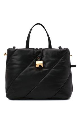 Женская сумка-тоут OFF-WHITE черного цвета, арт. 0WNA179F21LEA001   Фото 1 (Материал: Натуральная кожа; Размер: medium; Ремень/цепочка: На ремешке; Сумки-технические: Сумки-шопперы)