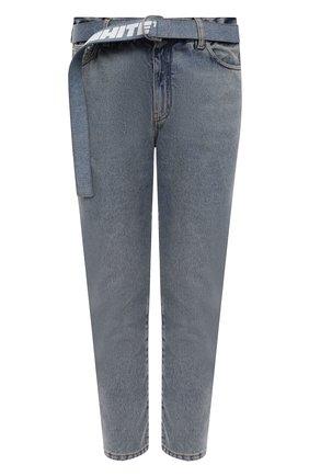 Мужские джинсы OFF-WHITE голубого цвета, арт. 0MYA005F21DEN002   Фото 1 (Материал внешний: Хлопок; Длина (брюки, джинсы): Стандартные; Кросс-КТ: Деним; Силуэт М (брюки): Прямые; Детали: Потертости; Стили: Гранж)