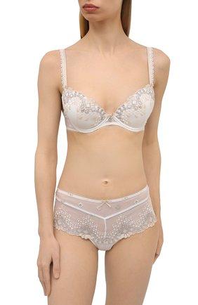 Женские трусы-шорты AUBADE белого цвета, арт. UB70 | Фото 2 (Материал внешний: Синтетический материал)