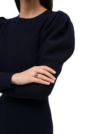 Женское кольцо с сердцем из горного хрусталя MOONKA черного цвета, арт. crg-r-crs | Фото 2 (Материал: Серебро)