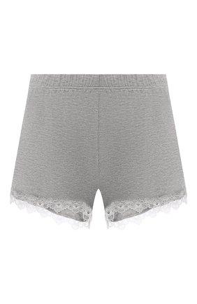 Женские шорты AUBADE серого цвета, арт. TL61 | Фото 1 (Длина Ж (юбки, платья, шорты): Мини; Материал внешний: Синтетический материал)