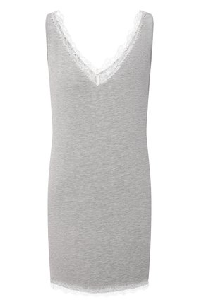 Женская сорочка AUBADE серого цвета, арт. TL40 | Фото 1 (Длина Ж (юбки, платья, шорты): Мини; Материал внешний: Синтетический материал)