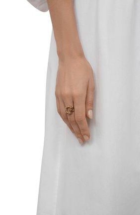 Женское кольцо alphabet g CHLOÉ золотого цвета, арт. CHC21SFR0GCB7 | Фото 2 (Материал: Металл)