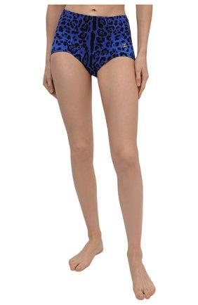Женский плавки-бикини DOLCE & GABBANA синего цвета, арт. 02A16J/FSGYP | Фото 2 (Материал внешний: Синтетический материал; Женское Кросс-КТ: Раздельные купальники)