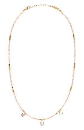 Женское колье HANKA_IN золотого цвета, арт. REB3-CH-ZIRGR-P0L | Фото 1 (Материал: Металл)