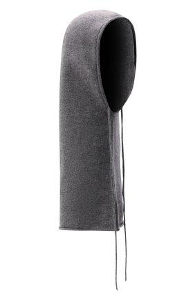 Женский кашемировый капор LISA YANG серого цвета, арт. 402102   Фото 1 (Материал: Кашемир, Шерсть)