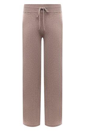 Женские кашемировые брюки LISA YANG бежевого цвета, арт. 202143   Фото 1 (Материал внешний: Шерсть, Кашемир; Стили: Кэжуэл; Кросс-КТ: Трикотаж; Длина (брюки, джинсы): Удлиненные, Стандартные; Силуэт Ж (брюки и джинсы): Широкие)