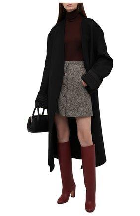 Женские кожаные сапоги KITON бордового цвета, арт. D50809X04T82 | Фото 2 (Материал внутренний: Натуральная кожа; Каблук тип: Устойчивый; Каблук высота: Средний, Высокий; Высота голенища: Высокие, Средние; Подошва: Плоская)